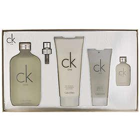 Calvin Klein Ck One edt 200ml + edt 15ml + BL 100ml + SG 100ML For Men