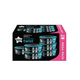 Tommee Tippee Sangenic Twist & Click Blöjhink Refill 6-pack