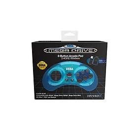 Retro-Bit Sega Mega Drive 8-Button Arcade Pad 2.4G (PC/Mac/PS3/Switch)