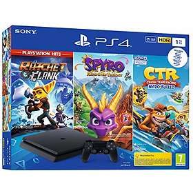 Sony PlayStation 4 (PS4) Slim 1To (+ Crash TR + Spyro + R&C)