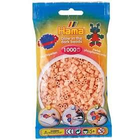 Hama Midi 207-56 Beads In Bag 1000 (Glow In The Dark - Red)