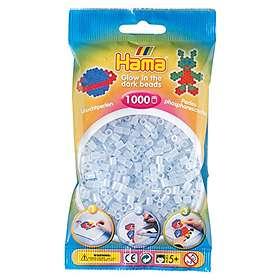 Hama Midi 207-57 Beads In Bag 1000 (Glow In The Dark - Blue)