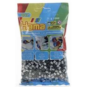 Hama Midi 207-62 Beads In Bag 1000 (Silver)