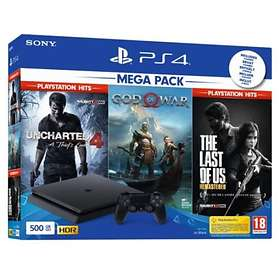 Sony PlayStation 4 (PS4) Slim 500Go (+ Uncharted 4 + God of War + TLOU)
