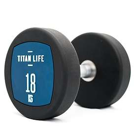 Titan Life Dumbbell PU 18kg