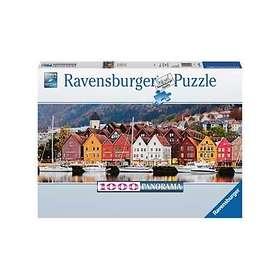 Ravensburger Panorama Port in Norway 1000 Palaa