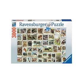 Ravensburger Pussel Animal Stamps 3000 Bitar
