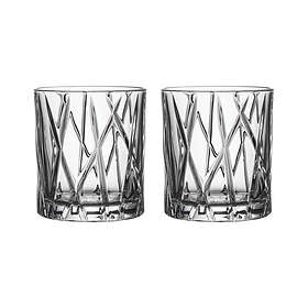Orrefors City Old Fashioned Whiskyglas 25cl 2-pack