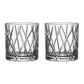 Orrefors City Old Fashioned Whiskyglas 34cl 2-pack