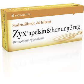 Meda Zyx Apelsin & Honung 3mg 20 Sugtabletter