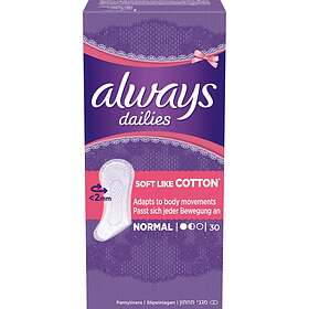Always Dailies Soft Like Cotton Normal (30-pack)