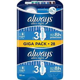 Always Ultra Night Wings (28-pack)