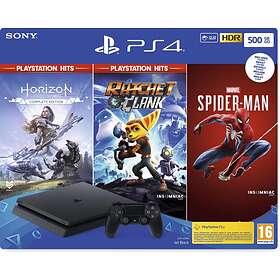 Sony PlayStation 4 (PS4) Slim 500GB (ml. Spider-Man + Horizon + R&C)