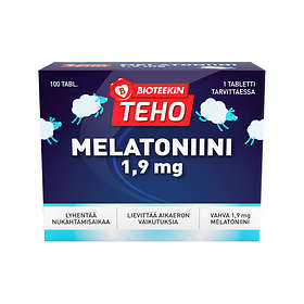 Bioteekin Teho Melatoniini 1,9 mg 100 Tabletit