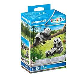 Playmobil Family Fun 70353 Två pandor med unge