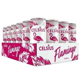 Celsius Kolsyrad Flamingo Tropical Burk 0,355l 24-pack