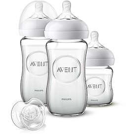 Philips Avent Newborn Glass Starter Set 3-pack
