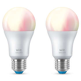 WiZ Smart LED Colors A60 806lm 2200-6500K E27 8W 2-pack