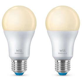 WiZ Smart LED A60 806lm 2700K E27 8W 2-pack (Dimbar)