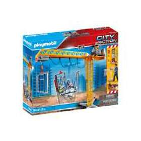 Playmobil City Action 70441 RC Crane with Building Section