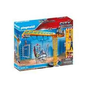Playmobil City Action 70441 Grue Radio Commandée Avec Mur De Construction