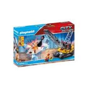Playmobil City Action 70442 Dragline Avec Mur De Construction