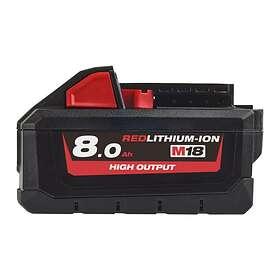 Milwaukee Redlithium High Output M18 HB8 18V 8.0Ah