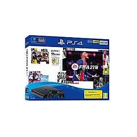 Sony PlayStation 4 (PS4) Slim 500GB (incl. FIFA 21 + 2nd Dualshock)