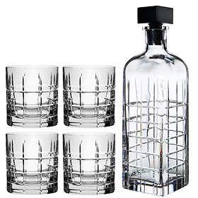 Orrefors Street Karaff 75cl Med 4 Whiskyglas 27cl