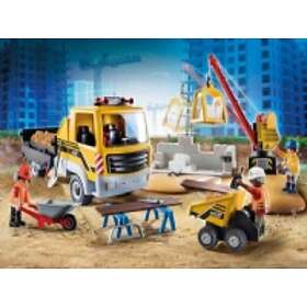 Playmobil City Action 70742 Construction Site With Flatbed Truck