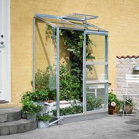 Halls Altan Väggväxthus 1,3m² 2-section (Aluminium/Glas)