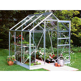 Halls Popular Växthus 3,8m² (Aluminium/Glas)