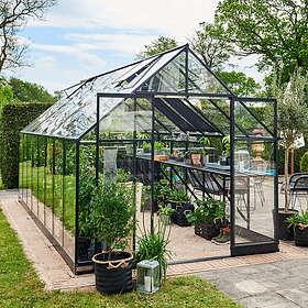 Halls Qube+ Växthus 13m² (Aluminium/Glas)