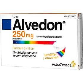GSK GlaxoSmithKline Alvedon Munsönderfallande tablett 250mg 12st