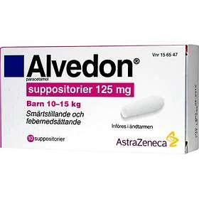 GSK GlaxoSmithKline Alvedon 125mg 10 Suppositorier