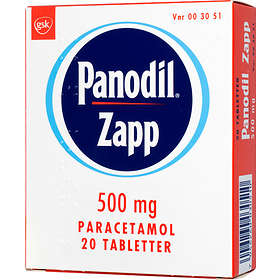 GSK GlaxoSmithKline Panodil Zapp 500mg 20 Tabletter