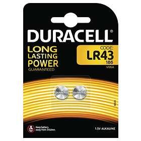 Duracell Knappcellsbatteri (LR43) [2-pack]