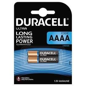 Duracell Ultra Alkaline AAAA-batteri (LR61) [2-pack]