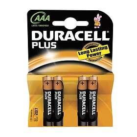 Duracell Plus Power AAA-batterier (LR03) [4-pack]