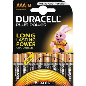 Duracell Plus Power AAA-batterier (LR03) [8-pack]