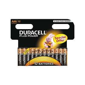 Duracell Plus Power AAA-batterier (LR03) [12-pack]