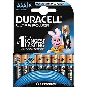 Duracell Ultra Power AAA-batterier (LR03) [8-pack]