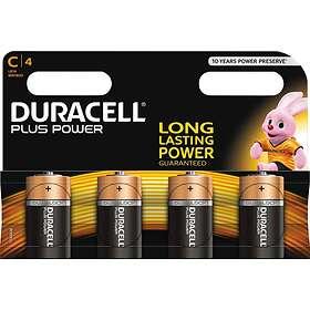 Duracell Plus Power C-batterier (LR14) [4-pack]