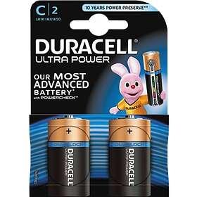 Duracell Ultra Power C-batterier (LR14) [2-pack]