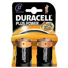 Duracell Plus Power D-batterier (LR20) [2-pack]