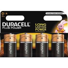 Duracell Plus Power D-batterier (LR20) [4-pack]