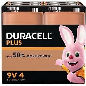 Duracell Plus Power 9V-batterier (6LR61) [4-pack]