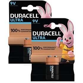 Duracell Ultra Power 9V-batterier (6LR61) [2-pack]