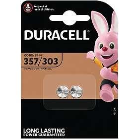 Duracell Knappcellsbatteri (D357/303) [2-pack]
