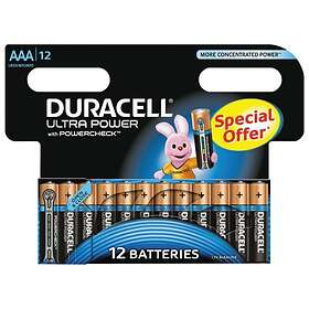 Duracell Ultra Power AAA-batterier (LR03) [12-pack]